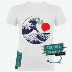 Camiseta de La gran ola del Kanagawa (Hokusai)
