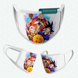 Mascarilla: Krillin, Goku y Mutenroshi (Dragon Ball)