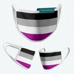 Mascarilla: Bandera Asexual