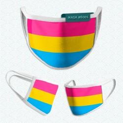 Mascarilla: Bandera Pansexual