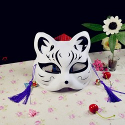 Máscara de gato pintada estilo japonés (#MaskB01)