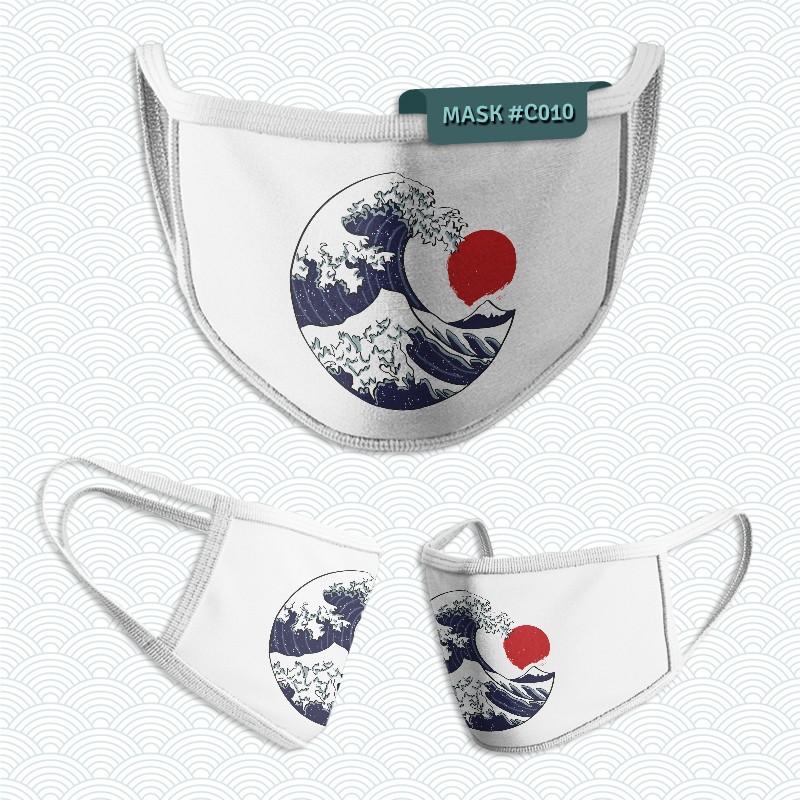 Mascarilla: La Gran ola del Kanagawa