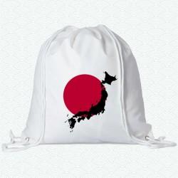 Mochila con la imagen de la bandera del Japón