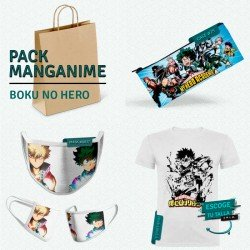 Pack: Boku no hero (estuche, mascarilla y camiseta)