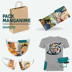 Pack: Naruto (estuche, mascarilla y camiseta)