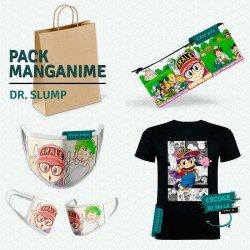Pack: Dr. Slump (estuche, mascarilla y camiseta)
