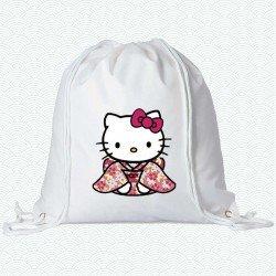 Mochila Hello Kitty vestida de Geisha