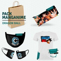 Pack: Dragon Ball (estuche, mascarilla y camiseta)