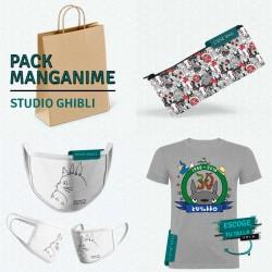 Pack: Studio Ghibli (estuche, mascarilla y camiseta)