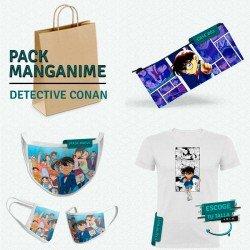 Pack: Detective Conan (estuche, mascarilla y camiseta)