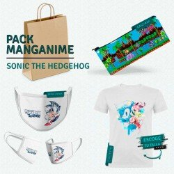 Pack: Sonic the hedgehog (estuche, mascarilla y camiseta)