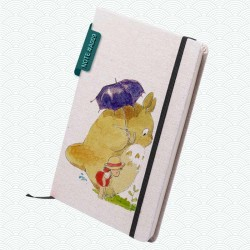 Libreta: Totoro paraguas y Mei Kusakabe (Studio Ghibli)