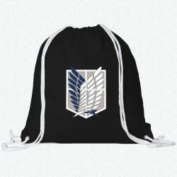 Mochila con el logotipo del cuerpo de exploración de la serie Ataque a los Titanes
