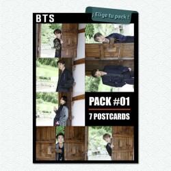 Pack #01 de 7 postales del grupo k-pop BTS