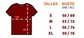 Tabla de talla (Camisetas)